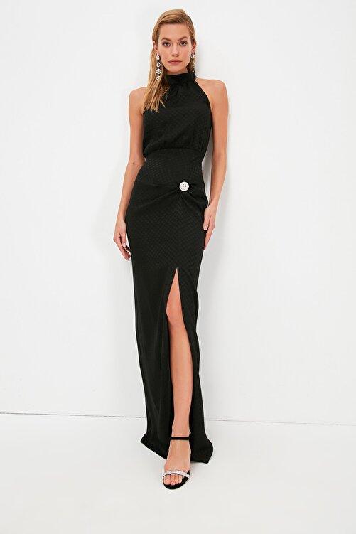 TRENDYOLMİLLA Siyah Taş Aksesuar Detaylı  Abiye & Mezuniyet Elbisesi TPRSS21AE0332 2