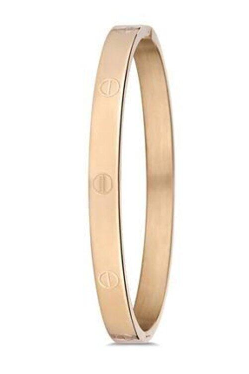 Elegante Kadın Gold Paslanmaz Çelik Bileklik 1