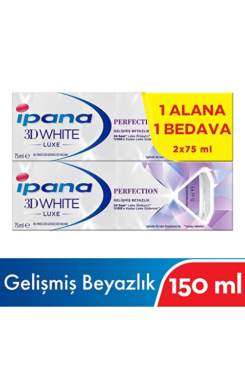İpana 3 Boyutlu Beyazlık Luxe Perfection Diş Macunu 2x75 ml 2