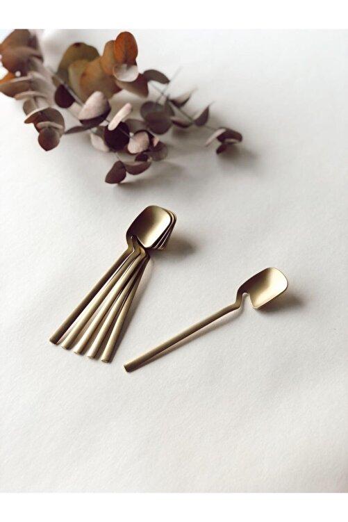 GÜRCÜGLASS Çay Kaşığı Titanyum Mat Altın 1