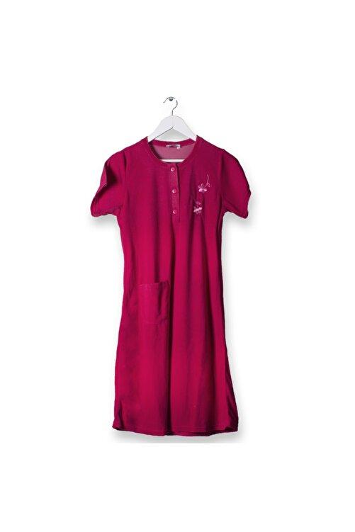 Cicikom Pamuklu Kollu Yarım Düğmeli Banyo Ve Plaj Havlu Elbise Pratik Otel Ve Hamam Havlu Elbise 2