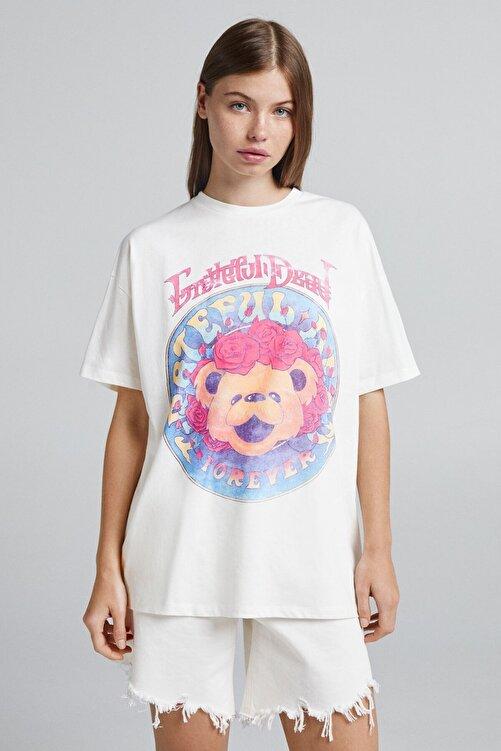 Bershka Baskılı Kısa Kollu T-shirt 1
