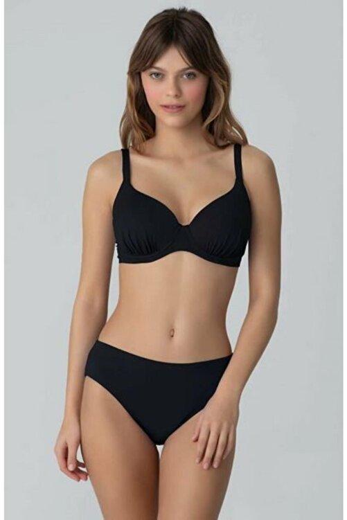 Kom Çıkarılabilir Push Up Destekli Viol Düz Renk Toparlayıcı Bikini 1