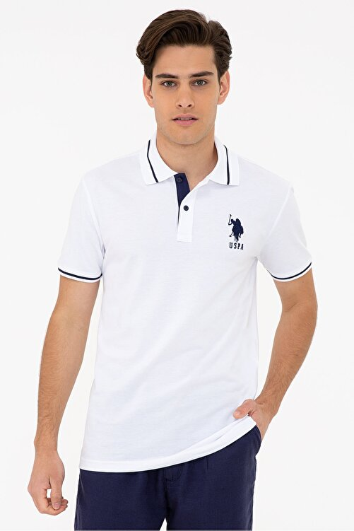 U.S. Polo Assn. Beyaz Erkek T-Shirt 1