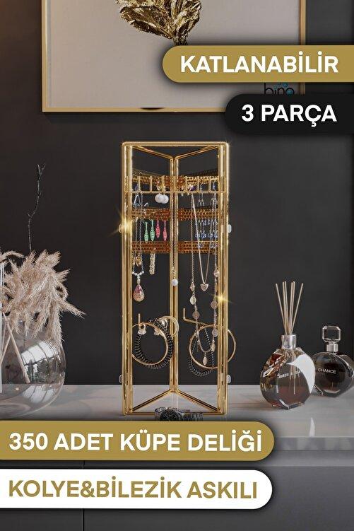 Bino Takı Düzenleyici Takı Organizeri Kutusu Dekoratif Takı Standı 3 Parça Kolye Yüzük Küpelik 2