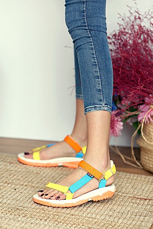 Pembe Potin Kadın Multi Sandalet 2