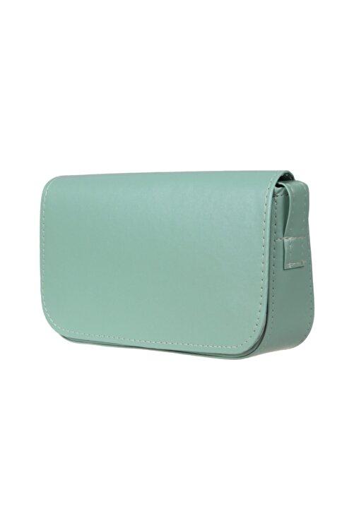 bag&more Kadın Su Yeşili Kapaklı Baget Çanta Moly 2