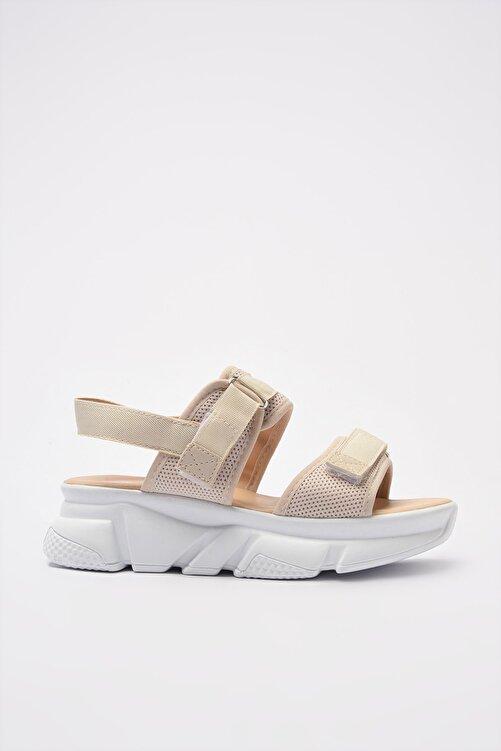 TRENDYOL SHOES Bej Kadın Sandalet TAKSS21SD0024 2