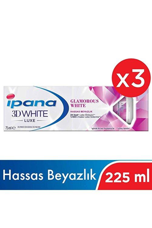 İpana Ipana 3DWhite Luxe Glamourous White Beyazlatıcı Diş Macunu 225 ml ( 75ml x 3 ) 1