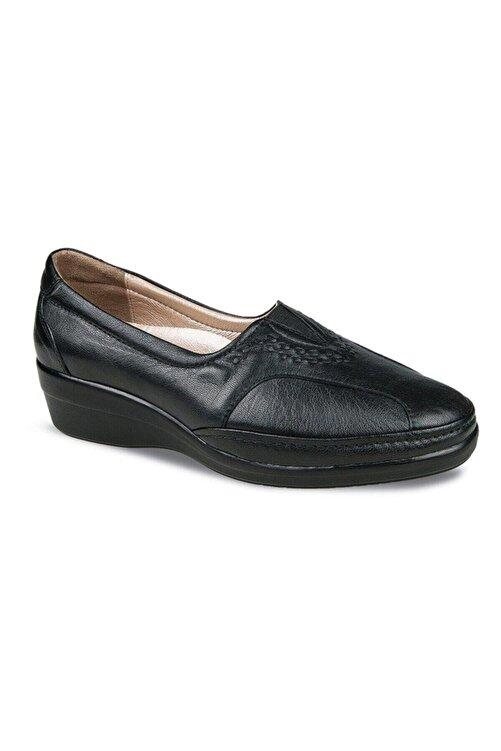 Ceyo Kadın Ayakkabı 9920-24 Siyah Hakiki Deri 1