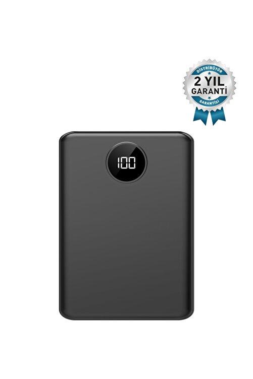 İntouch Mini Pro Led Ekran 10.000 Mah 2 Çıkışlı Taşınabilir Şarj Cihazı Powerbanksiyah 1