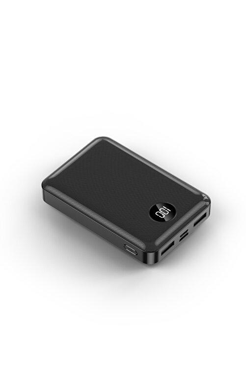 İntouch Mini Pro Led Ekran 10.000 Mah 2 Çıkışlı Taşınabilir Şarj Cihazı Powerbanksiyah 2