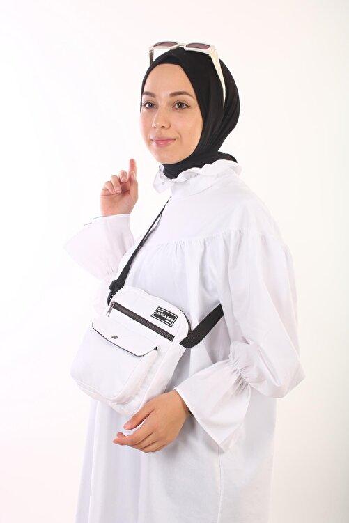 BijuHome Soobepark Kipling Kumaş Kadın Omuz Çantası Beyaz 2