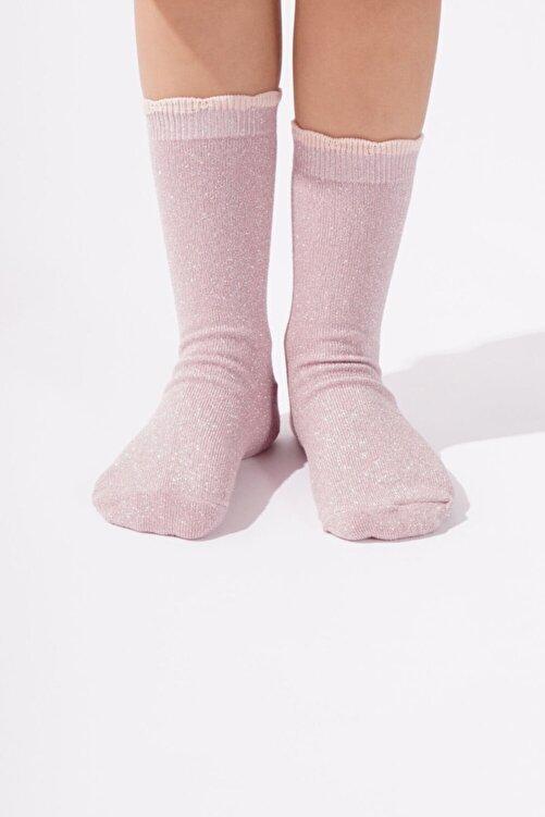 Katia&Bony Kız Çocuk Pembe Simli Çorap 1