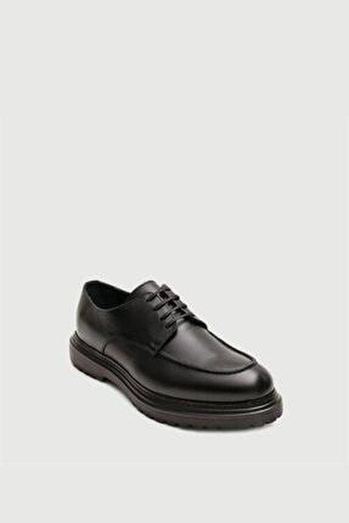 Male Industry Siyah Deri Klasik Ayakkabı 2