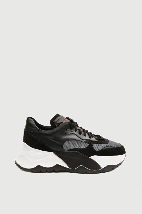 Male Industry Siyah Erkek Yüksek Taban Sneaker 1