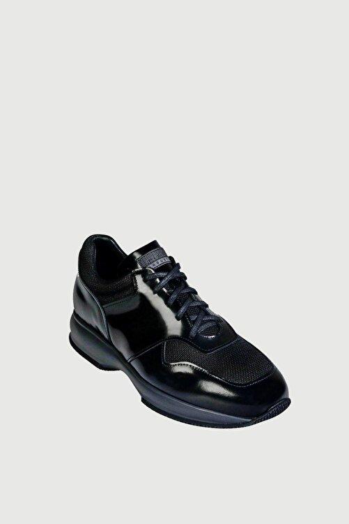 Male Industry Siyah Karartmalı Deri Erkek Sneaker 2