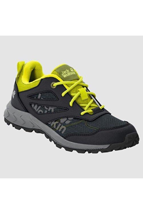 Jack Wolfskin 4042171 Woodland Low Black/lime Kadın Outdoor Ayakkabı 1