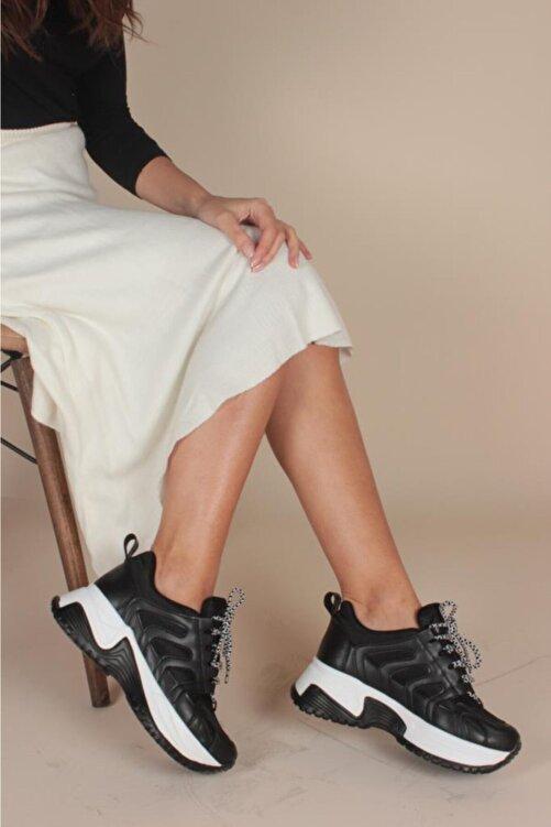 İnan Ayakkabı Kadın Siyah Sneaker 1
