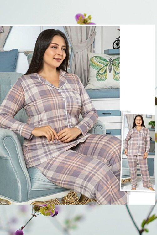 HAPPY NIGHT FASHION Large Sıze Pajamas Set 1