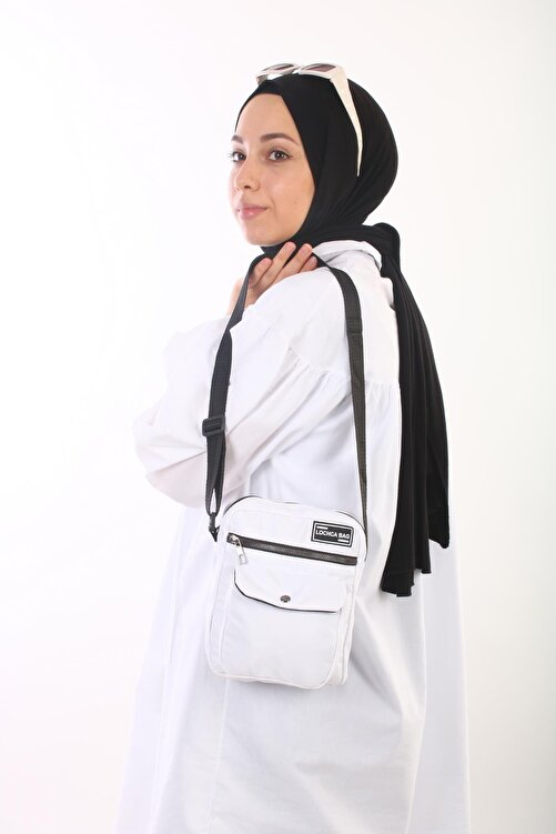BijuHome Soobepark Kipling Kumaş Kadın Omuz Çantası Beyaz 1