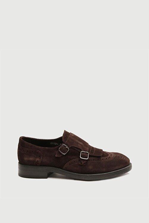 Male Industry Kahve Deri Püsküllü Tokalı Erkek Ayakkabı 1
