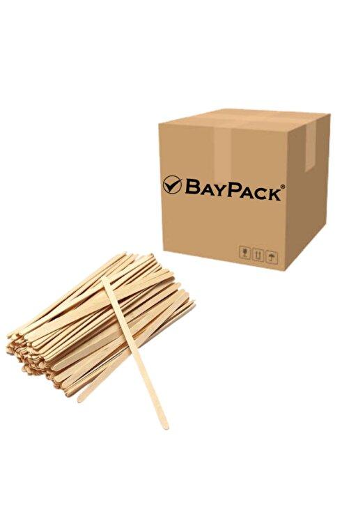 BAYPACK Tahta Ahşap Çay Ve Kahve Karıştırıcı 500'lü (1 Koli 24 Paket) 1