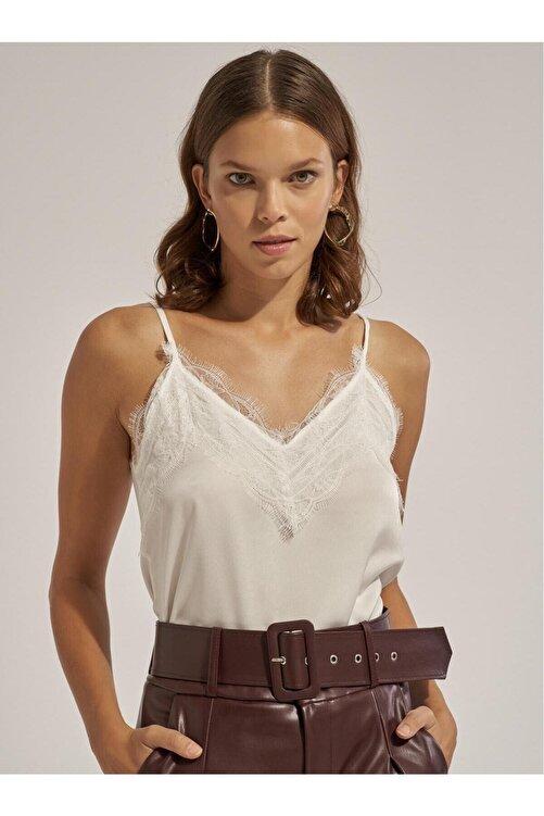 Thil Kadın Saten Görünümlü Askısı Ayarlanabilir Dantel Detaylı Bluz 2151-thl 1