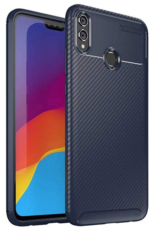 Huawei Honour 8x Kılıf Sert Korumalı Zırh Karbon Fiber Kapak 1