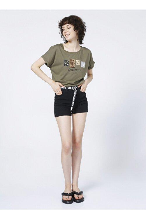 Fabrika Kadın Haki T-shirt 2