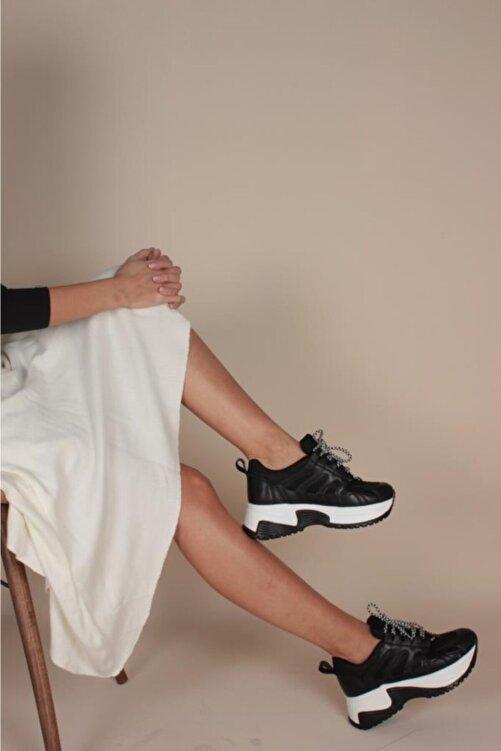 İnan Ayakkabı Kadın Siyah Sneaker 2