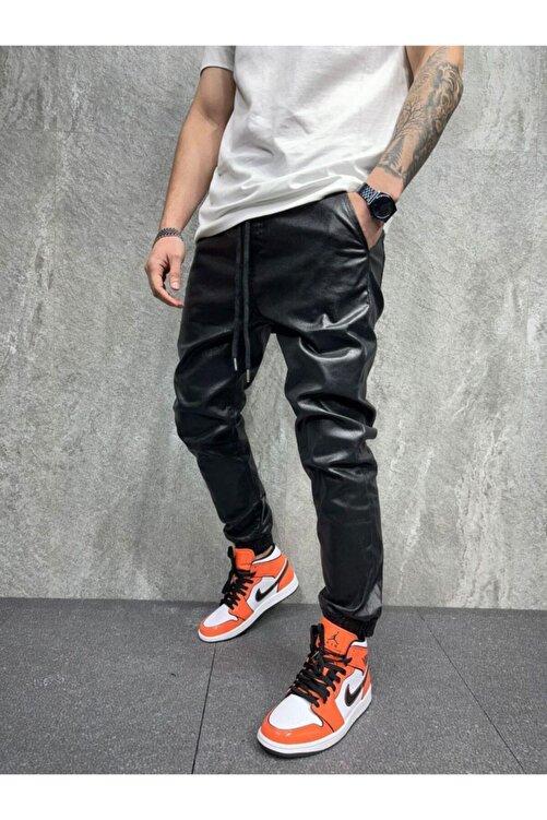 BPM Premium Deri Tasarım Erkek Kot Pantolon 1