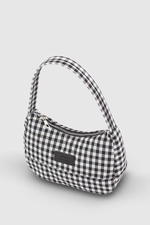 Housebags Kadın Pötikareli Siyah Baguette Çanta 197 1