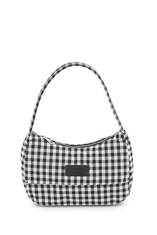 Housebags Kadın Pötikareli Siyah Baguette Çanta 197 2