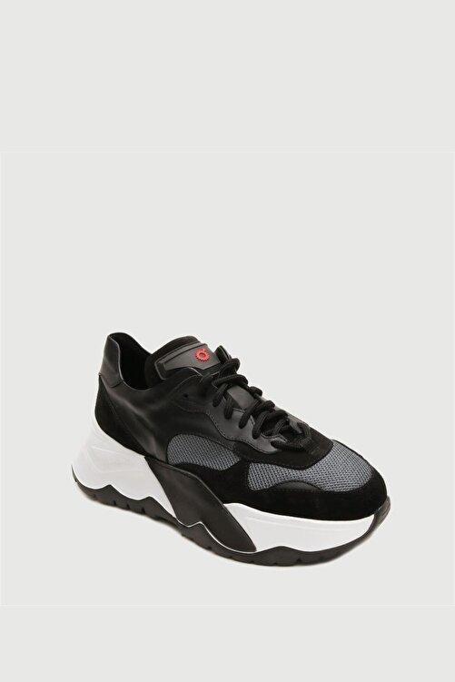 Male Industry Siyah Erkek Yüksek Taban Sneaker 2