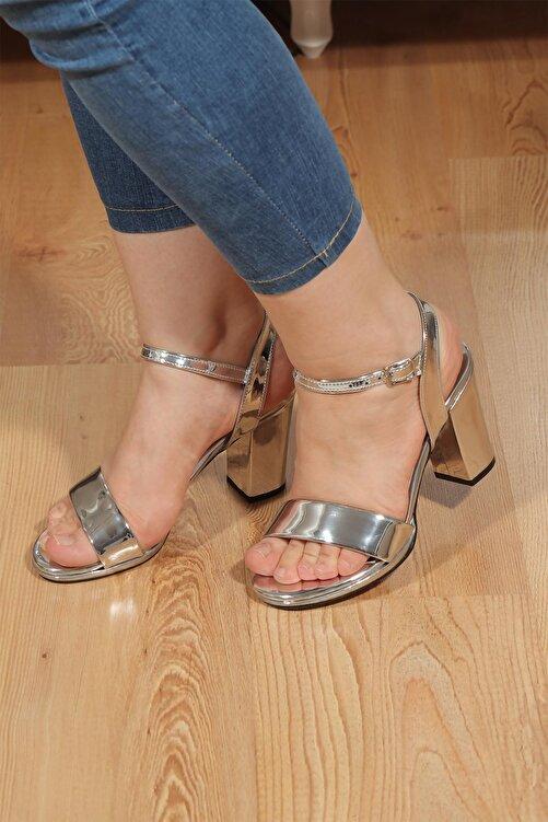 Ayakkabı Vakti Tek Bant Bilekten Bağlama Platform Topuklu Sandalet Vln33 2