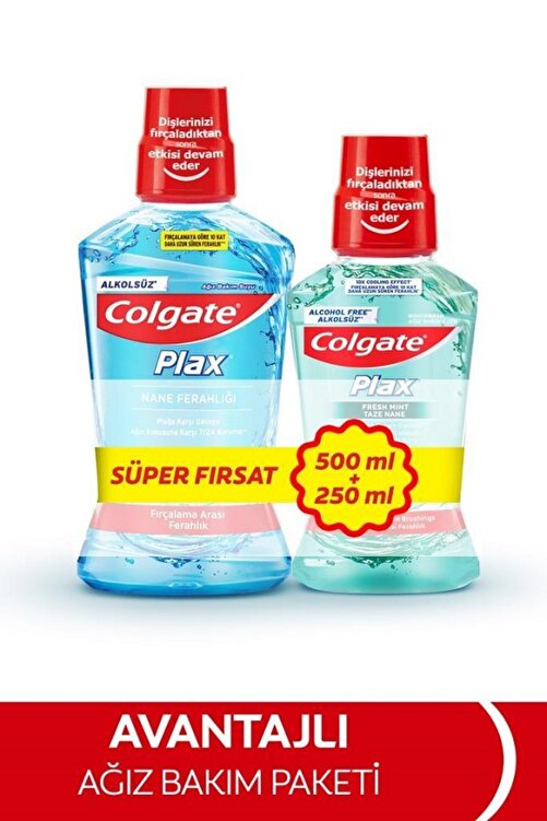 Colgate Plax 500 Ml+250 Ml Agız Bakım Suyu 1