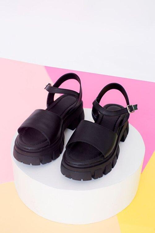 yesh Linber Mat Deri Yumuşak Pedli Sandalet 2