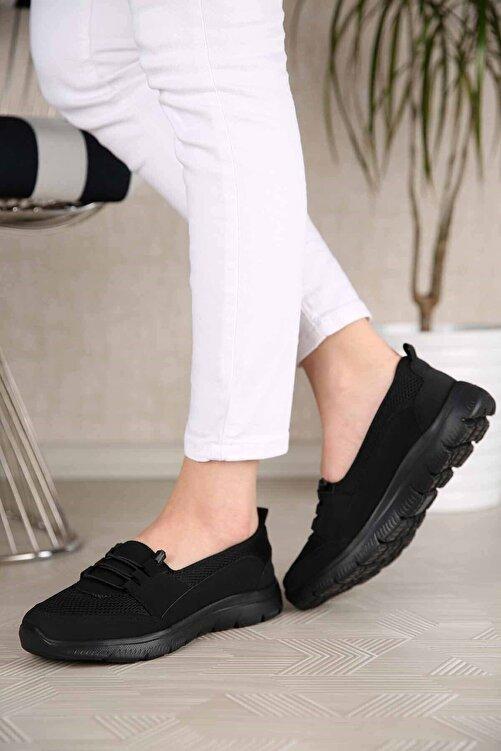 PoloJack Kadın Siyah Ortopedik Günlük Ayakkabı 2