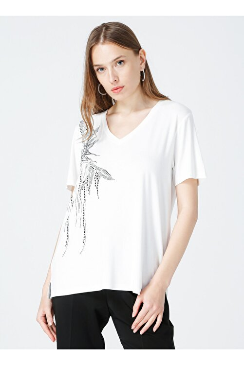 Fabrika Kadın Beyaz Comfort T-shirt 1
