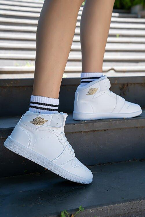 Bartrobel Unisex Bilekli Spor Ayakkabı Beyaz 2