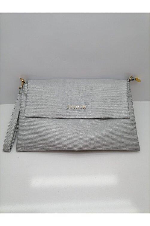 İnci Kadın Gümüş Portföy Çanta 2