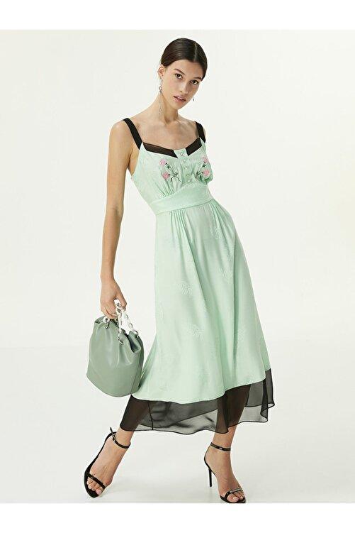 Twist Çiçek Nakışlı Elbise 1