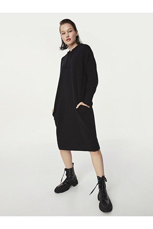 Twist Kapüşonlu Sweat Elbise 1