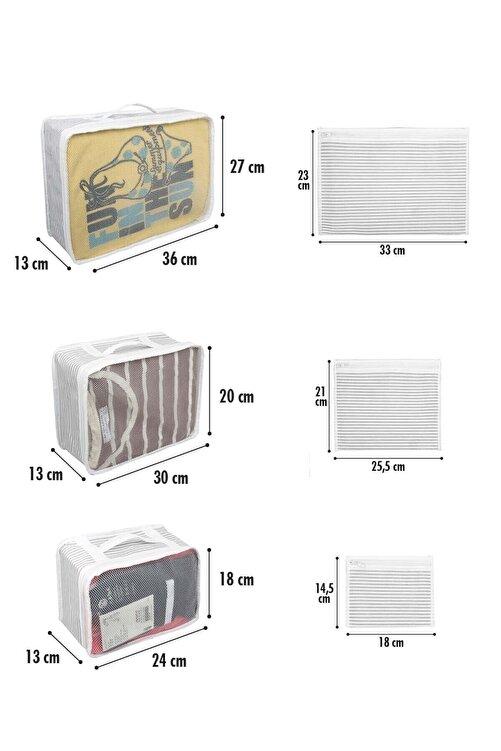 Meleni Home 6'lı Bavul Valiz Düzenleyici Set 2