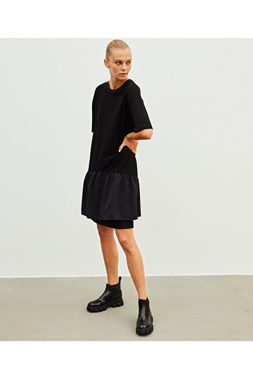 İpekyol Fırfır Şeritli Elbise 2