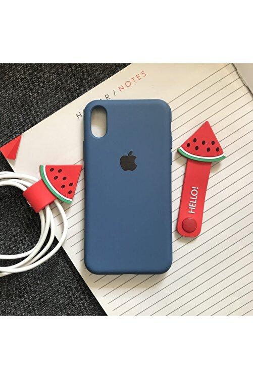 SUPPO Iphone X/xs Uyumlu Logolu Lansman Içi Kadife Silikon Kılıf 1