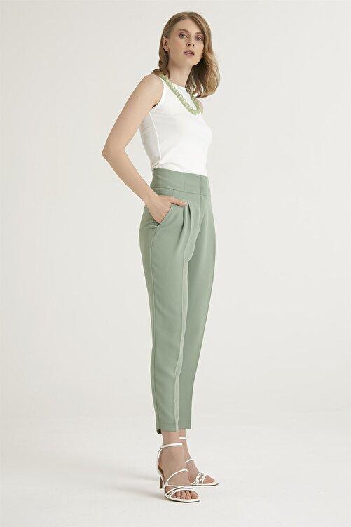 Chima Kadın Yeşil Pensli Pantolon 2