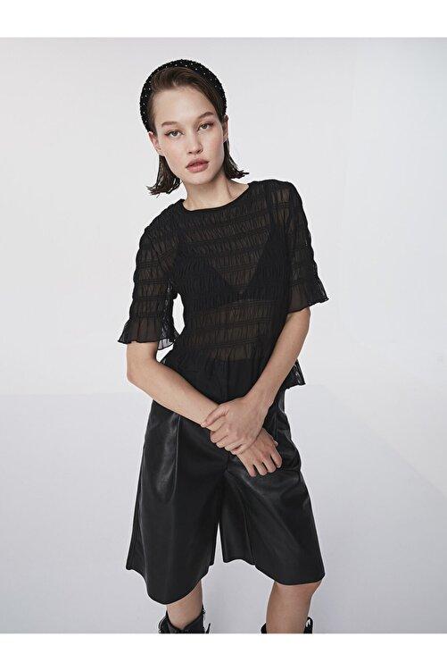 Twist Büzgülü Transparan Bluz 1