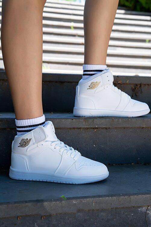 Bartrobel Unisex Bilekli Spor Ayakkabı Beyaz 1